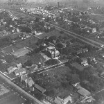 Historical aerial shot of Weston