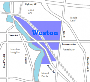 Map of Weston