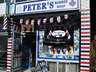 Peter's Barber Shop sign