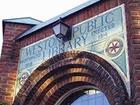 Weston Public Library archway