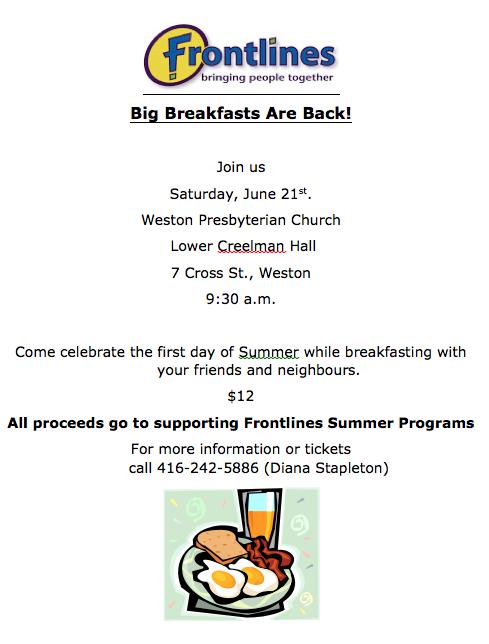 Frontlines Big Breakfast