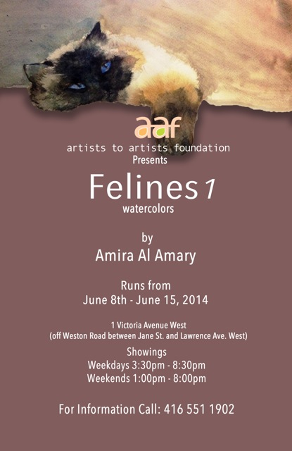 Watercolour Exhibit - Felines 1