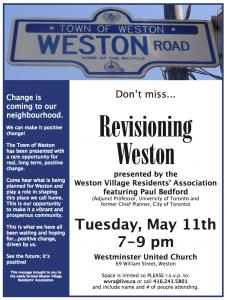 Revisioning Weston May 11, 2010