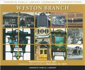 Weston Library Centennial - November 22, 2014