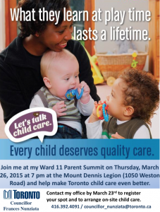 Parent Summit March 23, 2015