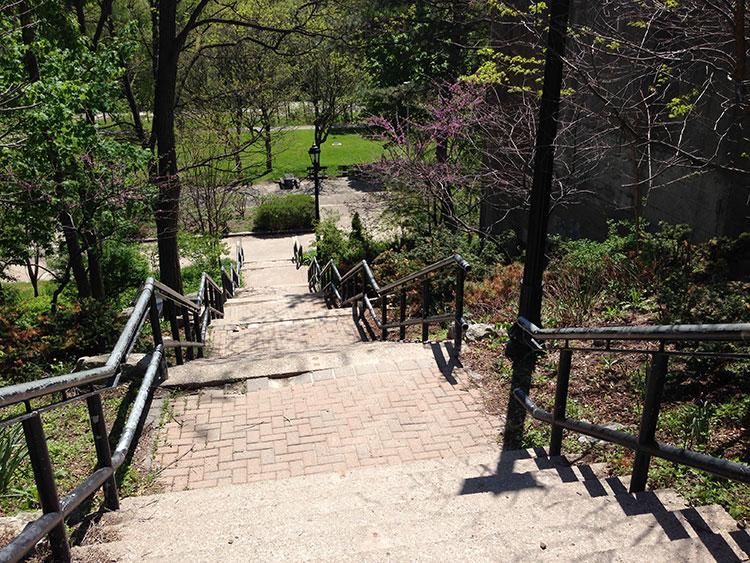 Stairs to Cruickshank Park