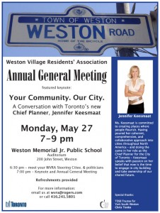 Weston Village Resident's Association AGM