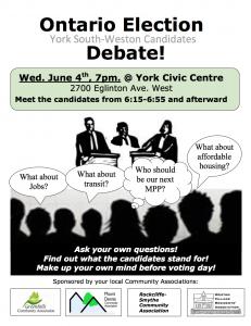 Ontario Election Debate Flyer