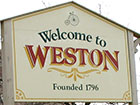 Welcome To Weston sign