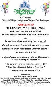 2014 Neighbours Night Out - July 10th