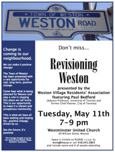 Revisioning Weston May 11, 2010